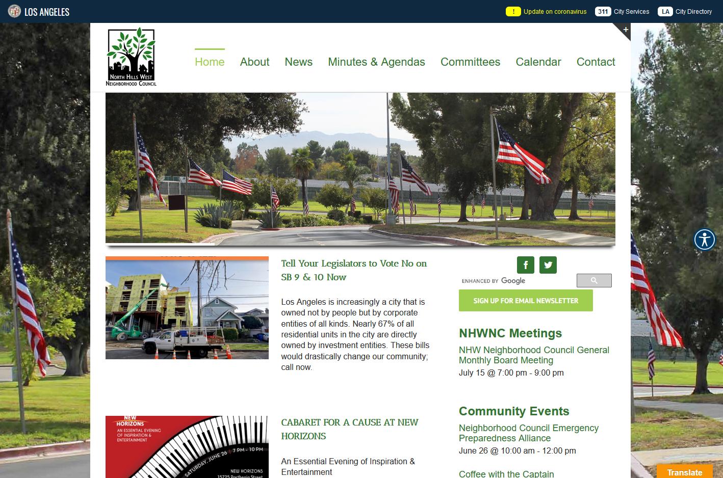 North Hills West Neighborhood Council Website