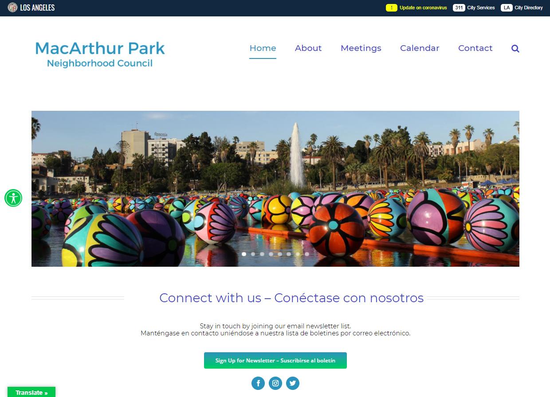 MacArthur Park Neighborhood Council website