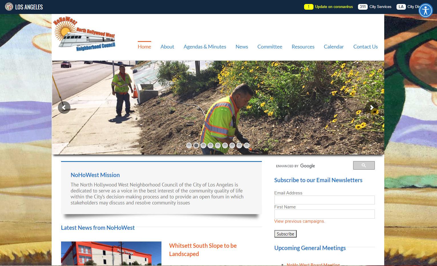 NoHo West Neighborhood Council Website