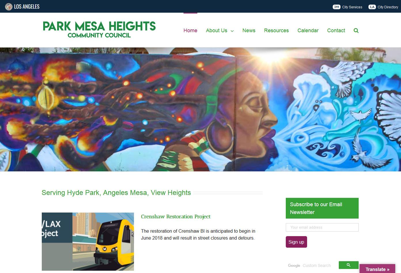 Park Mesa Heights Community Council Website