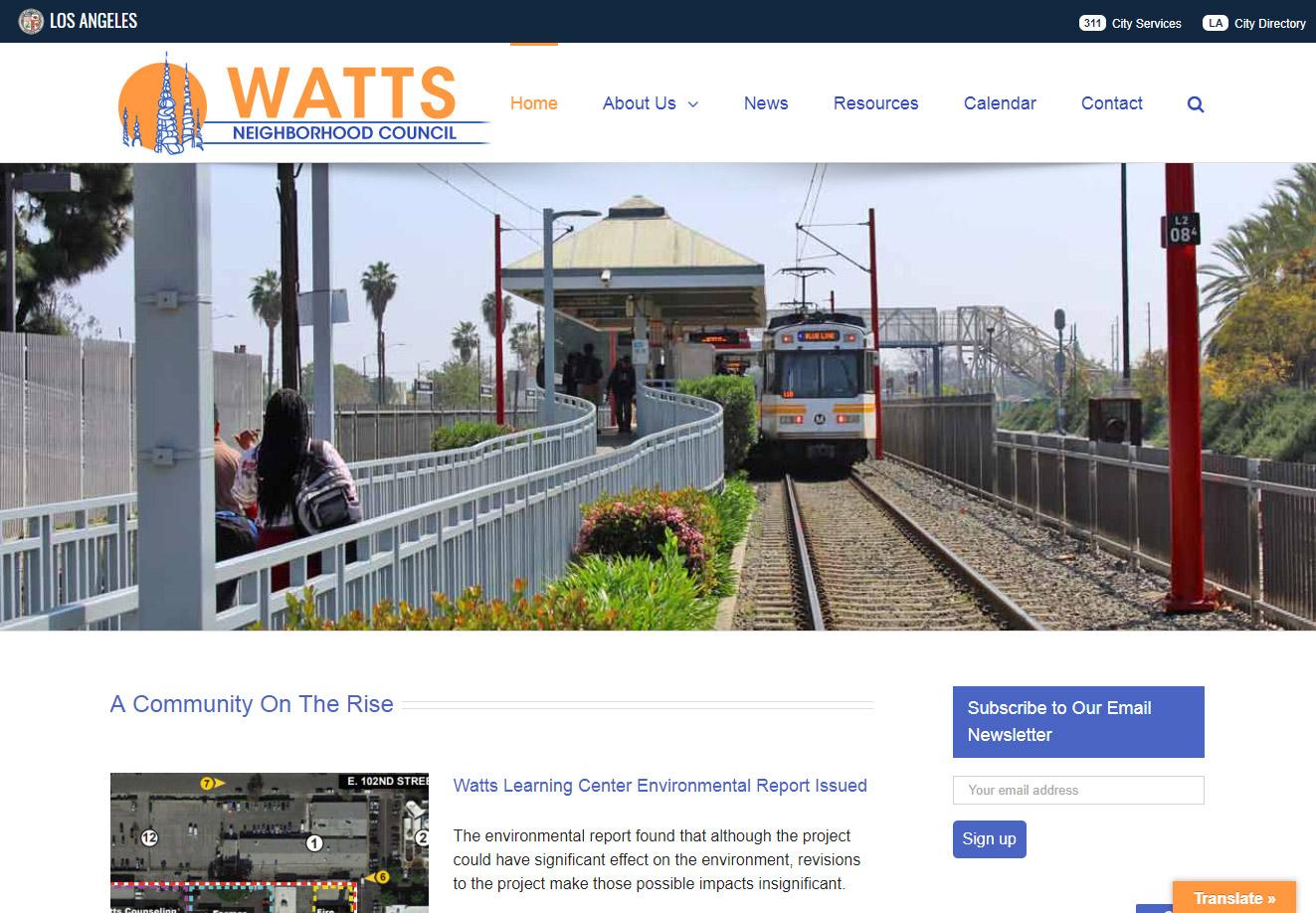 Watts Neighborhood Council Site with train