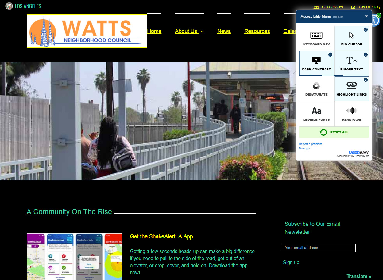 Accessible Watts Site