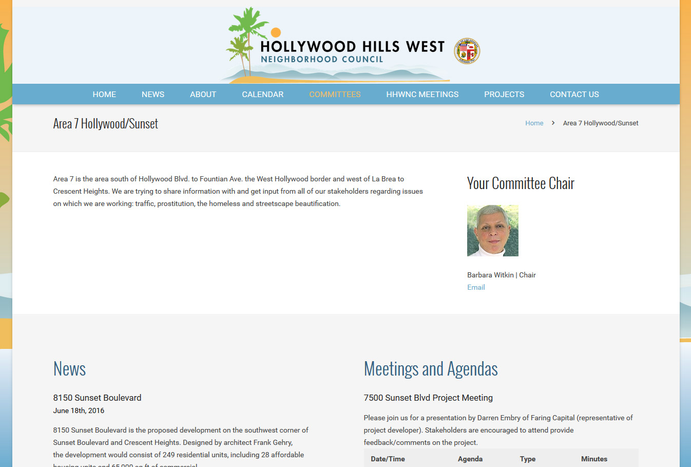 Hollywood Hills West Area Page